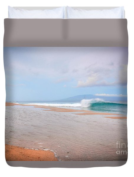 Duvet Cover featuring the photograph Morning Wave by Kelly Wade