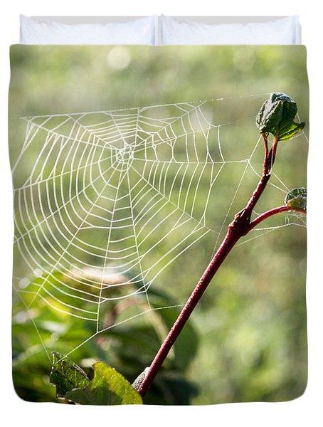 Morning Web #1 Duvet Cover