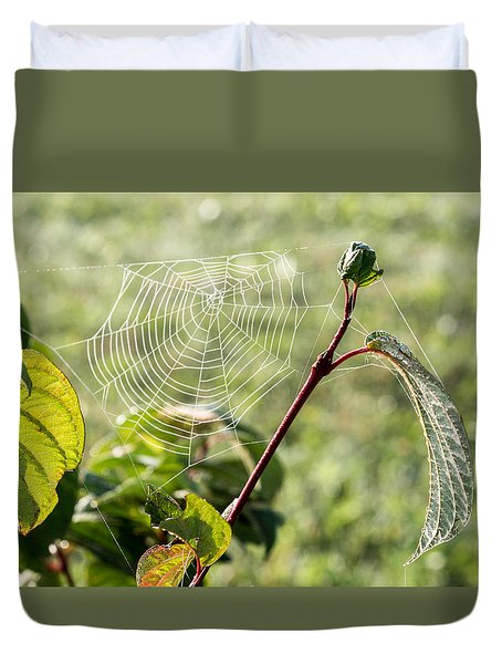 Morning Web #1 Duvet Cover