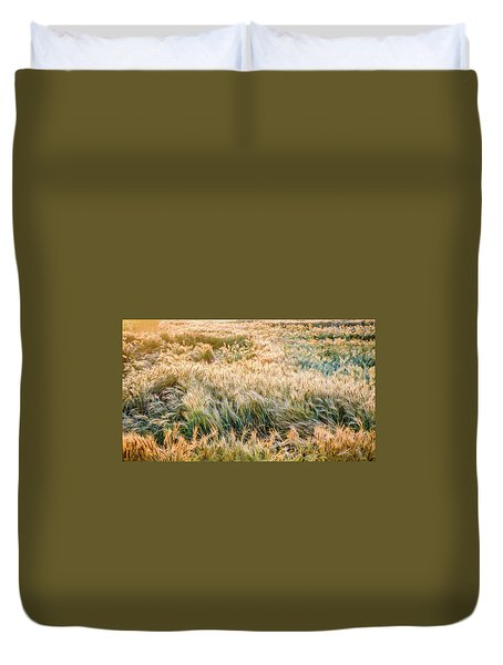 Morning Wheat Duvet Cover