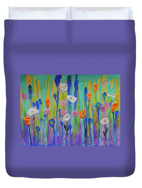 Morning Wildflowers Duvet Cover