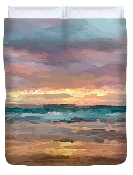 Morning Beachscape Duvet Cover