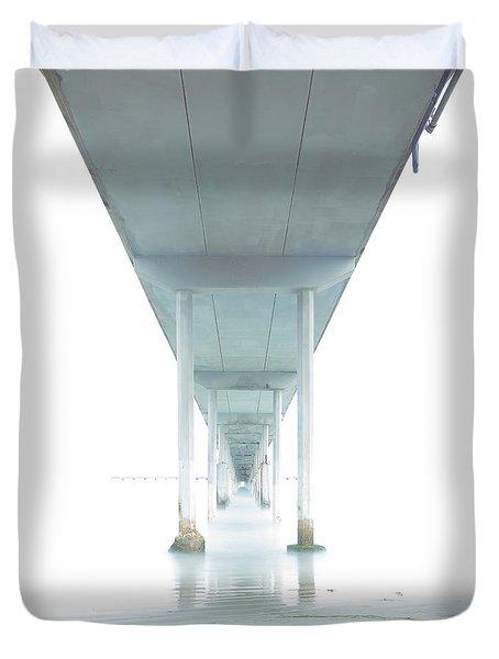 Mornings Underneath The Pier Duvet Cover