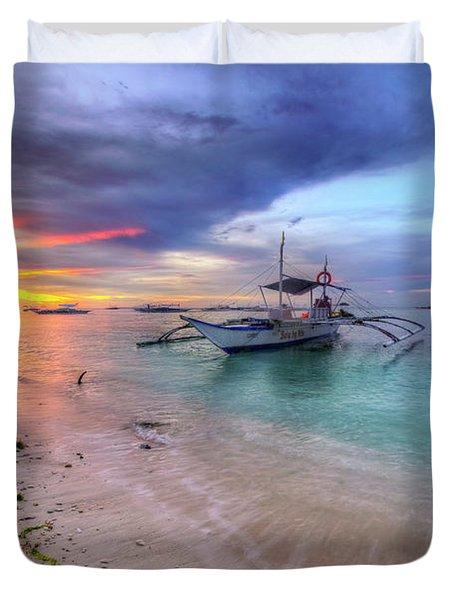 Duvet Cover featuring the photograph Morningtide 2.0 by Yhun Suarez