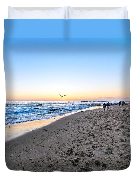Duvet Cover featuring the photograph Moro Sunset by Anthony Baatz
