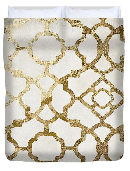 Moroccan Gold I Duvet Cover