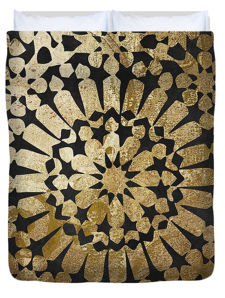 Moroccan Gold Iv Duvet Cover