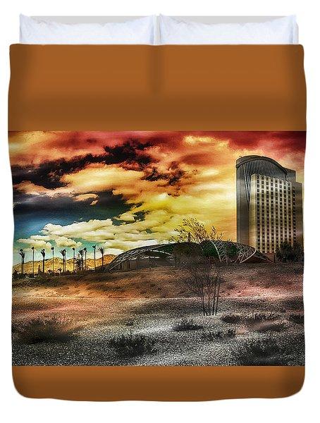 Morongo Casino Sunset Duvet Cover