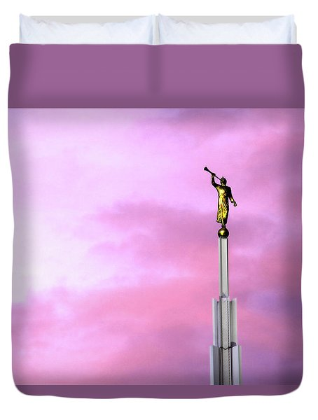 Duvet Cover featuring the photograph Moroni At Dawn by Marie Leslie