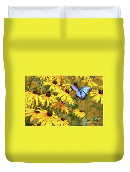 Morpho Butterfly Duvet Cover