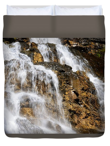 Morrell Falls 5 Duvet Cover by Janie Johnson