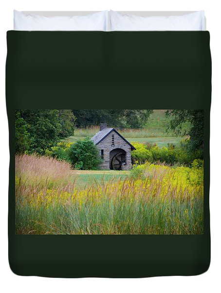 Duvet Cover featuring the photograph Morris Arboretum Mill In September by Bill Cannon