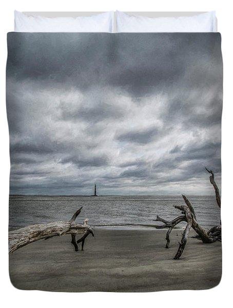 Morris Island Lighthouse Duvet Cover
