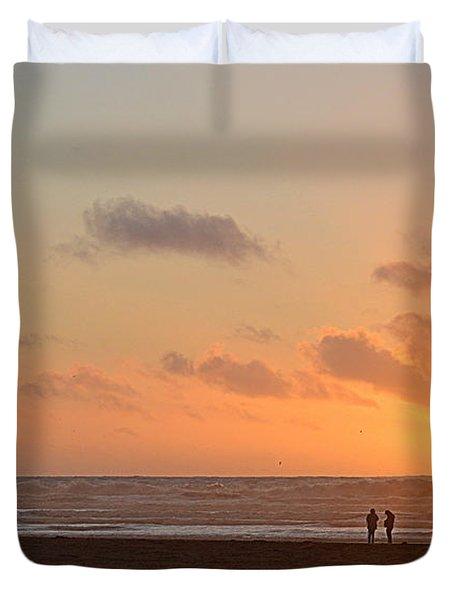 Morro Sunset Duvet Cover