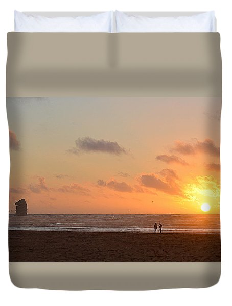 Morro Sunset Duvet Cover