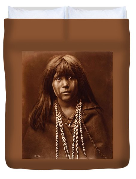 Mosa, Mohave Girl, By Edward S. Curtis, 1903 Duvet Cover