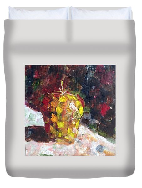 Mosaic Apple Duvet Cover by Roxy Rich
