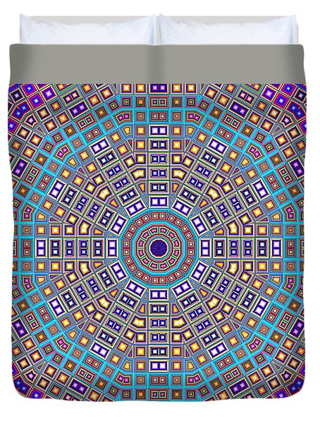 Duvet Cover featuring the digital art Mosaic Kaleidoscope  by Shawna Rowe