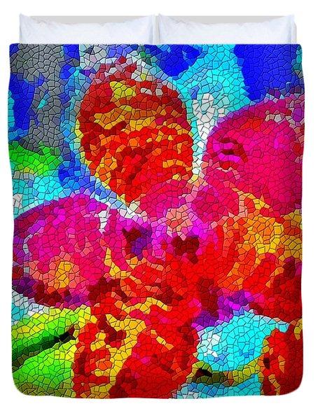 Mosaic Orchid Duvet Cover