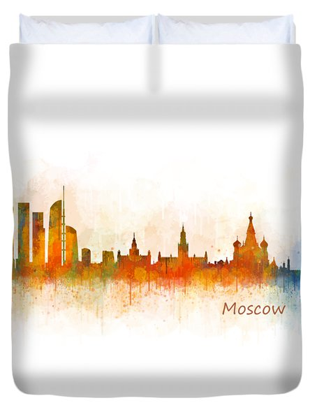Moscow City Skyline Hq V3 Duvet Cover by HQ Photo