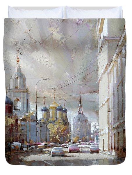 Moscow. Varvarka Street. Duvet Cover by Ramil Gappasov
