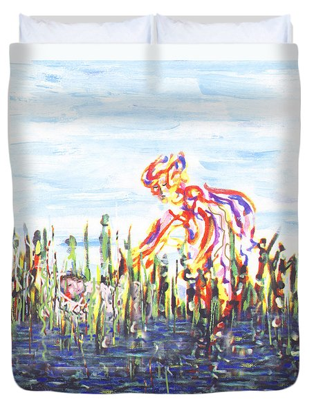 Moses In The Rushes Duvet Cover