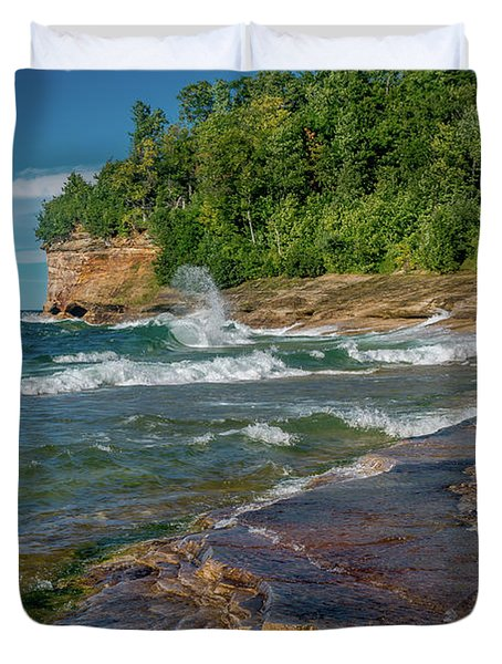 Mosquito Harbor Waves  Duvet Cover