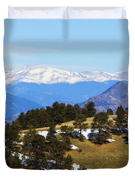 Mosquito Range Mountains Duvet Cover