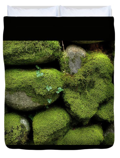 Duvet Cover featuring the photograph Moss And Ivy by Mike Eingle