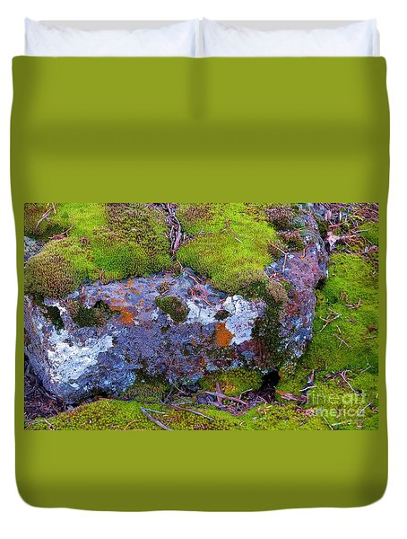 Moss And Lichen Duvet Cover by Michele Penner