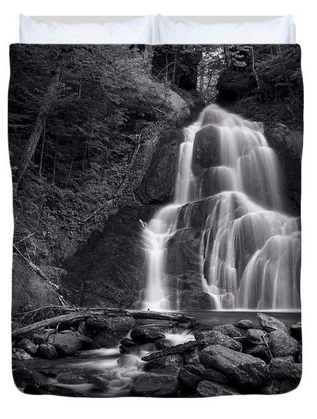 Moss Glen Falls - Monochrome Duvet Cover