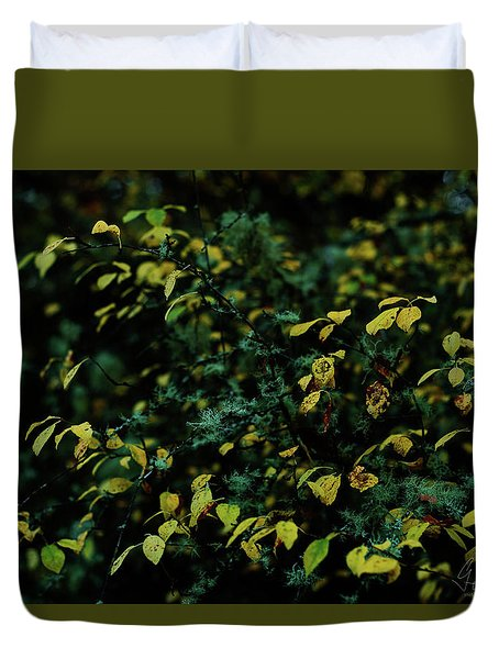 Duvet Cover featuring the photograph Moss In Colors by Gene Garnace