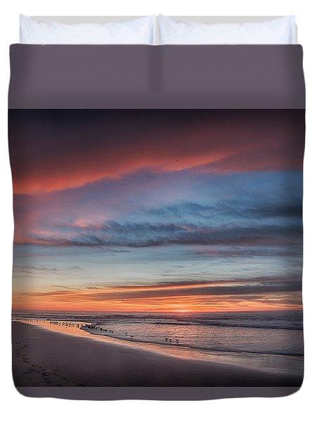 Moss Landing Sunset Duvet Cover