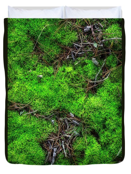 Duvet Cover featuring the photograph Moss On The Hillside by Mike Eingle