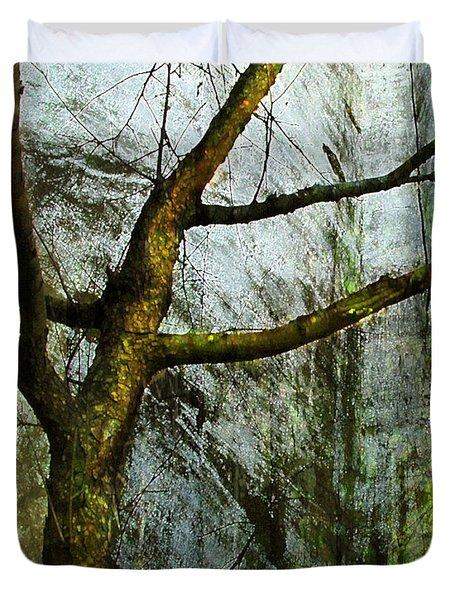 Moss On Tree Duvet Cover