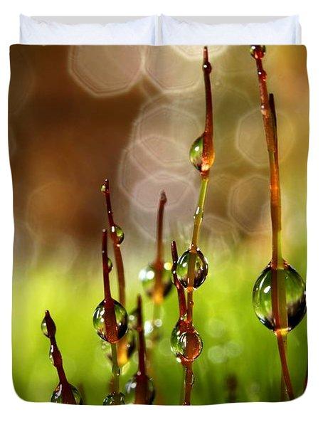 Moss Sparkles Duvet Cover