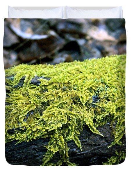 Mosss On Blackened Log Duvet Cover