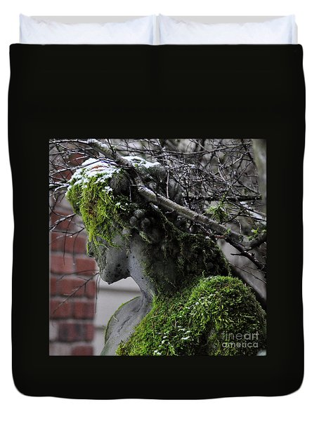 Duvet Cover featuring the photograph Mossy Bacchus by Tanya Searcy