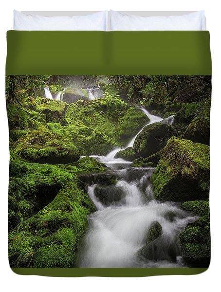 Mossy Fall #3 Duvet Cover