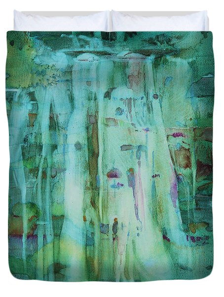 Mossy Falls Duvet Cover by Elizabeth Carr