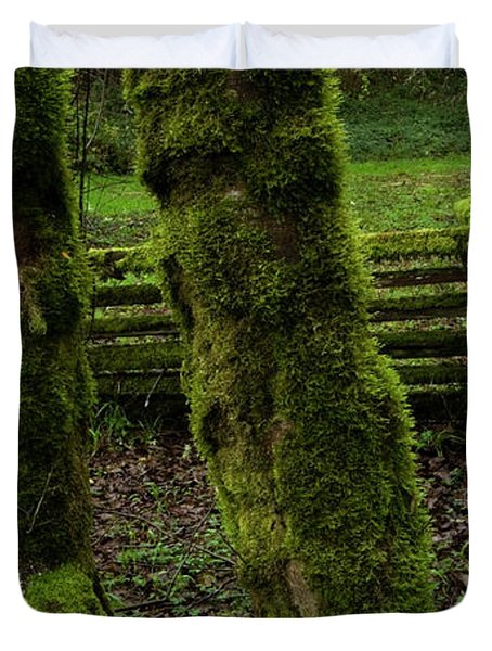 Mossy Fence Duvet Cover by Bob Christopher