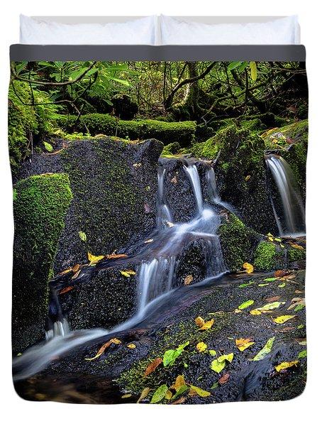 Emerald Cascades Duvet Cover