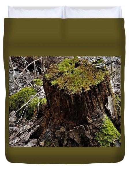 Mossy Stump Duvet Cover