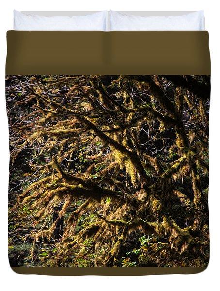 Mossy Trees Duvet Cover