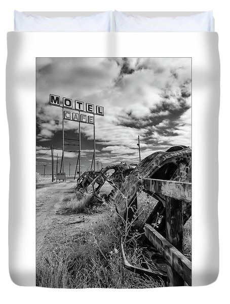 Motel Cafe Northern Texas  Duvet Cover
