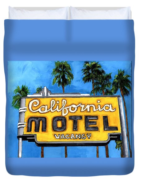 Motel California Duvet Cover