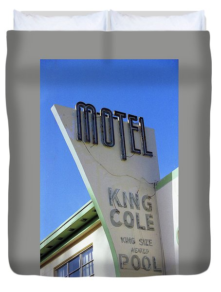 Duvet Cover featuring the photograph Motel King Cole by Matthew Bamberg
