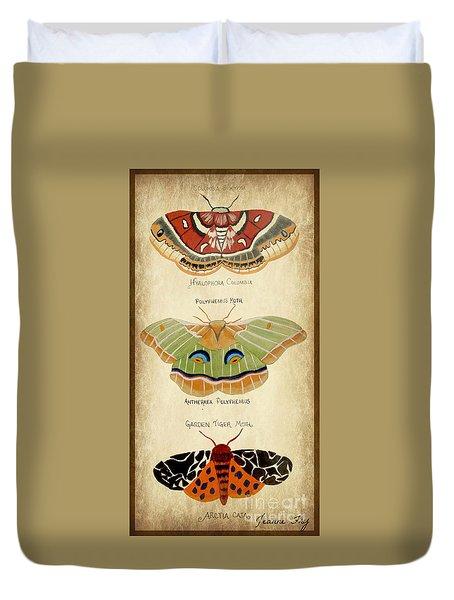 Moth Study Duvet Cover