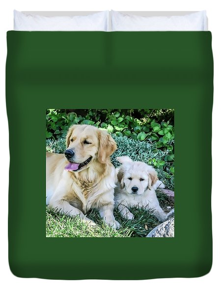 Mother And Pup Duvet Cover