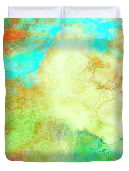 Mother Earth - Abstract Art - Triptych 1 Of 3 Duvet Cover